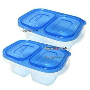 EZ Container Lunch Snack Box Rectangular pack of 3 - Small