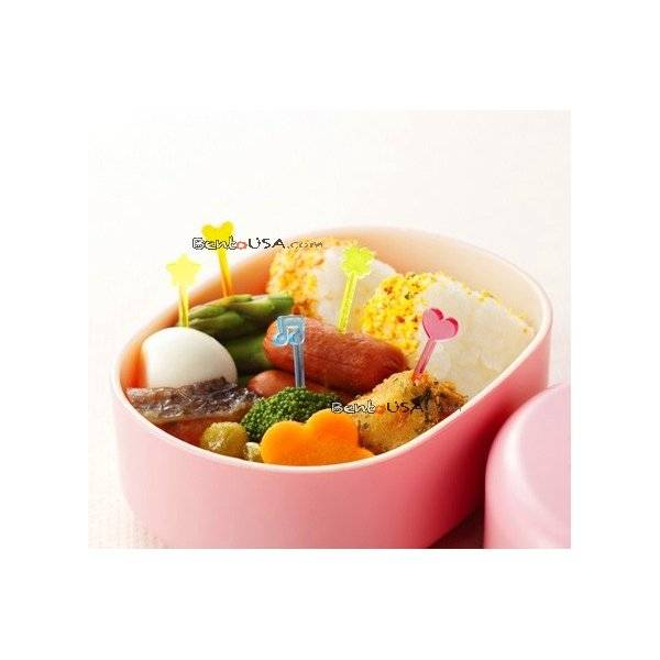 Japanese Bento Cute Food Pick 50 pcs - Clear slim long