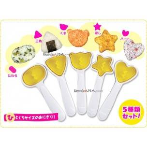 Bento Rice Mold Onigiri Omusubi Shaper 5 Fun Shapes