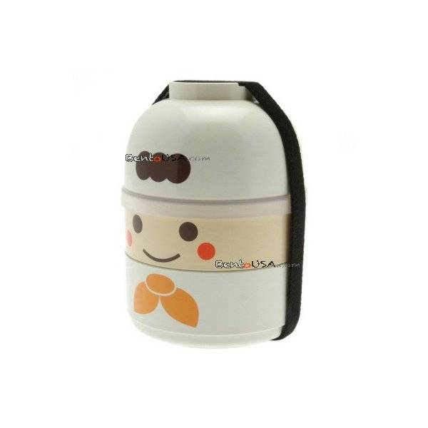 japanese bento box 2 tier lunch box kokeshi set chef all things for sale. Black Bedroom Furniture Sets. Home Design Ideas