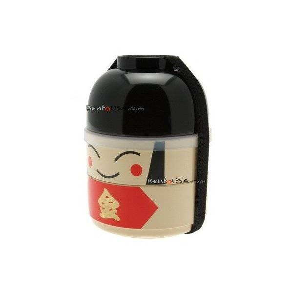 japanese bento box 2 tier lunch box kokeshi set kintaro all things for sale. Black Bedroom Furniture Sets. Home Design Ideas