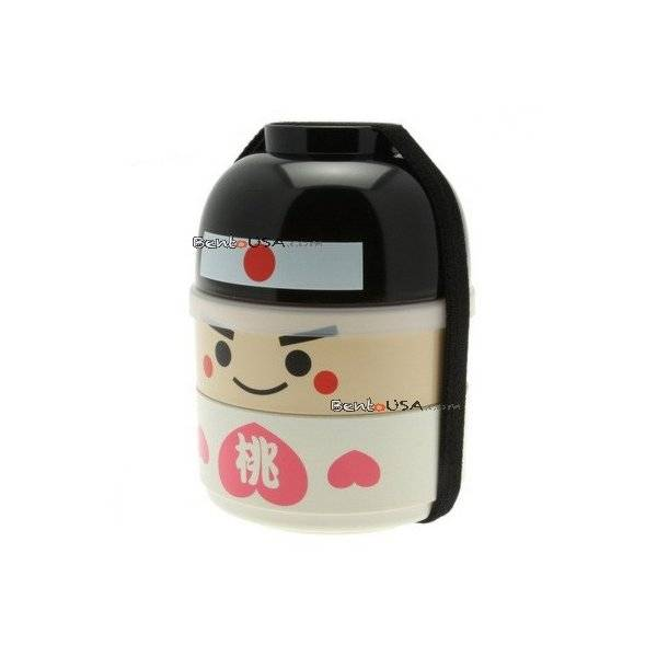 japanese bento box 2 tier lunch box kokeshi set momotaro. Black Bedroom Furniture Sets. Home Design Ideas