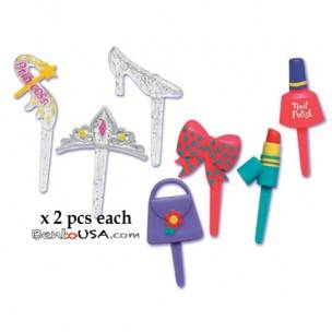 Food Decorating Pick Puffy Pick Little Princess 14 pcs