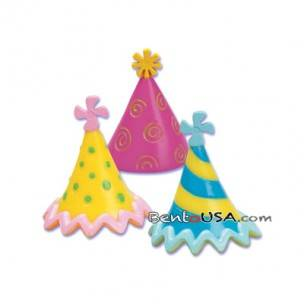 Food Decorating Topper Party 3D Hat 6 pcs