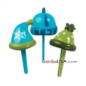 Food Decorating Pick Puffy Pick 3D Winter Hat