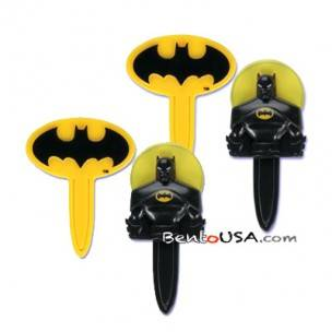 Food Decorating Pick Batman and Bat Symbol Bookmark