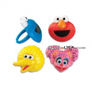 Food Decorating Party Cupcake Ring Topper Sesame Street