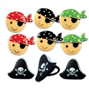 Food decorating party ring topper cute pirate theme all for Cute stuff for sale