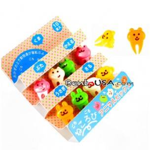 Japanese Bento Food Pick Cute Rabbit Frog Monkey Bear Pig