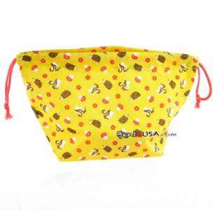 Japanese Bento Cloth Bag for bento box lunch box - Small Yellow