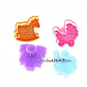 Bento Pastry Cookie Cutter and Stamp set of 4 Baby