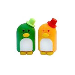 Cute Japanese Eraser Collectible Penguin Puzzle Eraser Green