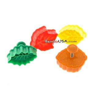 Bento Pastry Cookie Cutter and Stamp Leaves