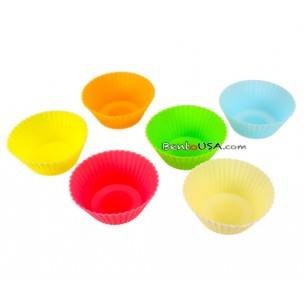 Japanese Bento Accessories Silicone Colorful Food Cup 6P