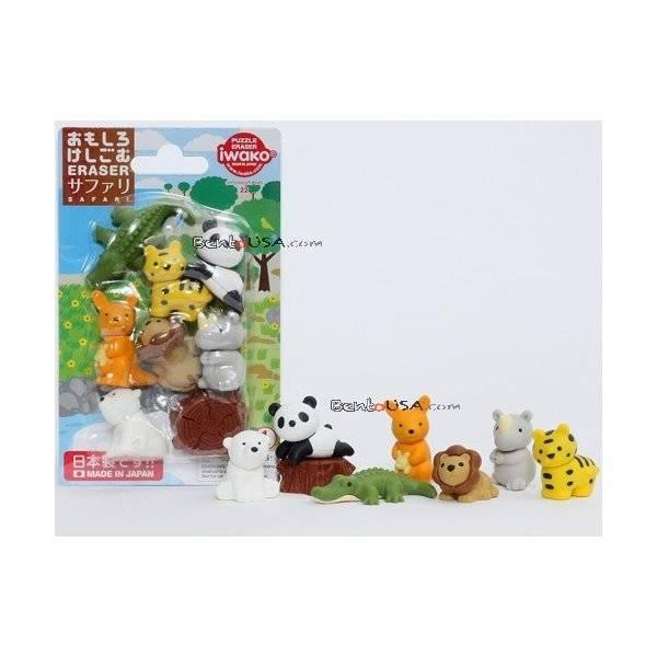 Cute japanese safari animal puzzle eraser set for Cute stuff for sale