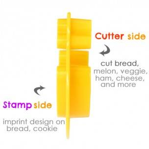 2 sided all in one bento tool cutter and bread stamp imprint