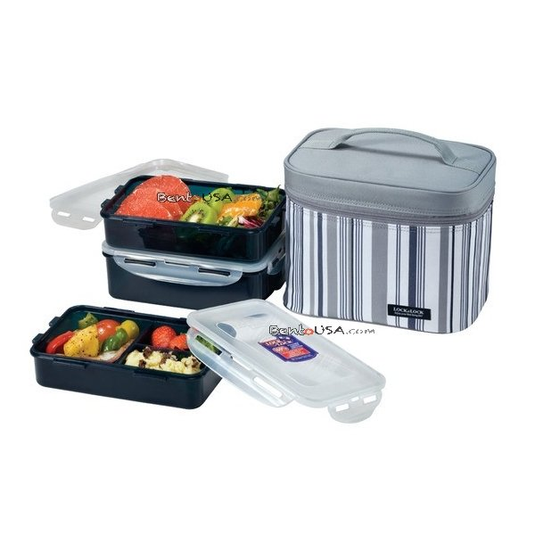 Microwavable Men Lunch Box 3-pcs Set with Insulated Bag Lunch Box For Men