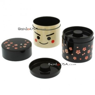 JAPANESE KOKESHI TEA CONTAINER ACCESSORIES BOX 2 TIER  