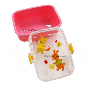 Microwavable Japanese Bento Box Lunch Snack Box Pink