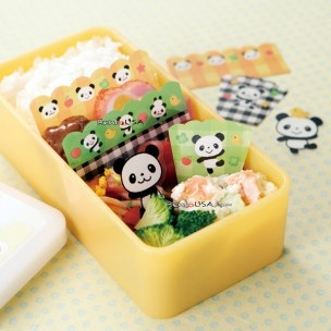 PANDA MICROWAVABLE BENTO BARAN FOOD PARTITION SHEET SET 18PCS