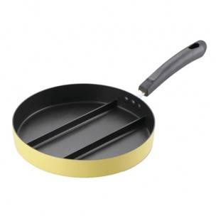 Japanese Triple Fry Pan Non Stick 3 Convenient Sections 9.5 inches