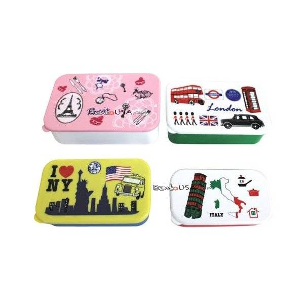 microwavable bento box lunch box 4 nesting food container all things for sale. Black Bedroom Furniture Sets. Home Design Ideas