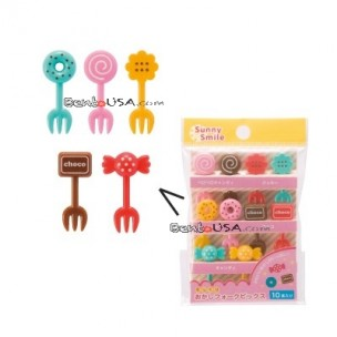 Japanese Bento Box Accessory Sweet Fork Food Pick 10 Pcs