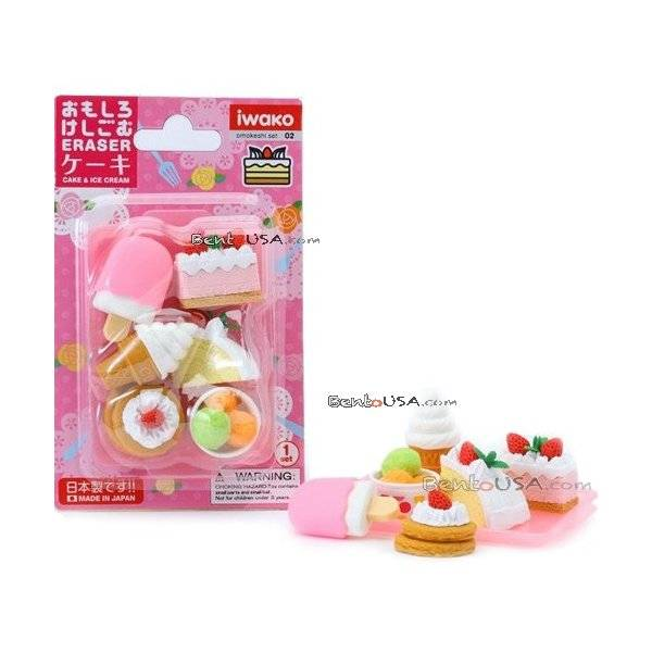 Cute japanese cake ice cream puzzle eraser set for Cute stuff for sale