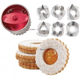 BENTO DECORATION 7 PC LINZER CUT OUTS COOKIE CUTTER SET  