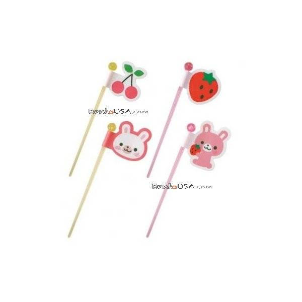 Japanese bento cute seal food pick rabbit 8 pcs all for Cute stuff for sale