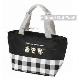 Insulated Bento Lunch Bag Panda with Cold Gel Pack