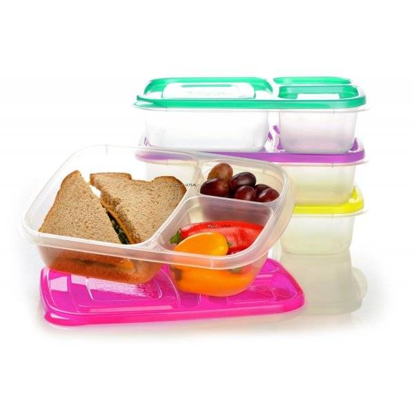 easylunchboxes bento lunch box pack of 4 bright all things for sale. Black Bedroom Furniture Sets. Home Design Ideas