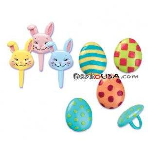 Food Decorating Pick Puffy Ring Bunny Egg