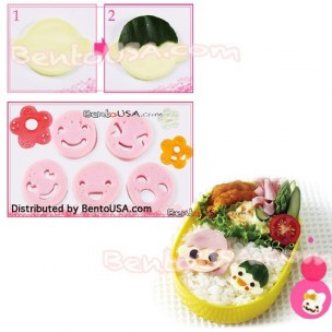 Decorative Bento Cutter Ham Cheese Cutter Set 14 Facial Expression
