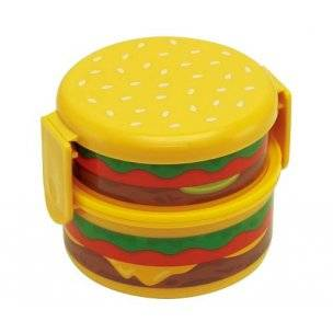 Japanese Cheese Burger 2-tier  Bento Lunch Box