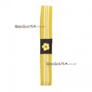 Japanese Bento Box Elastic Belt Lunch Box Bento Strap Yellow Flower