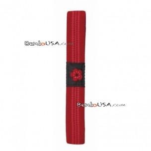 Japanese Bento Box Elastic Belt Lunch Box Bento Strap Red Flower
