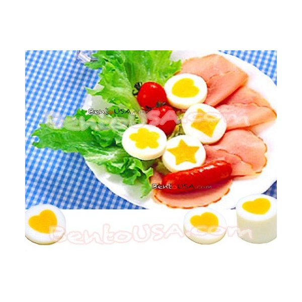 DECORATIVE HARD BOILED EGG mould YOLK egg MOLD 4 SHAPES