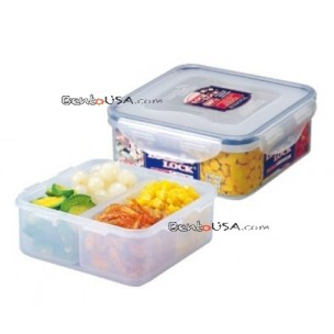 Microwavable Airtight 4 Sections Bento Lunch Box BPA Free Dishwasher Safe