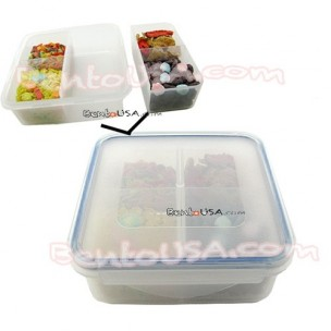 Microwavable Airtight Easy Bento Lunch Box 4 Sections