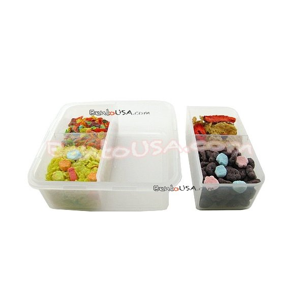 microwavable airtight easy bento lunch box 4 sections all things for sale. Black Bedroom Furniture Sets. Home Design Ideas