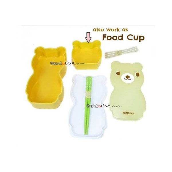 japanese bento lunch box set bear with chopsticks. Black Bedroom Furniture Sets. Home Design Ideas