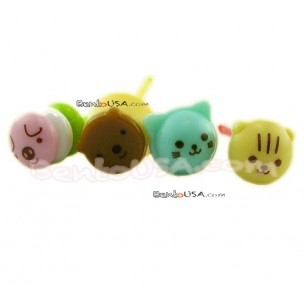 Japanese Bento Accessory Cute Face Food Pick 8 pcs dessert