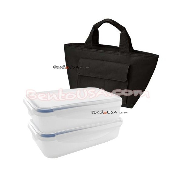 microwavable airtight 4 section bento lunch box set insulated bag all things for sale. Black Bedroom Furniture Sets. Home Design Ideas