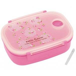 3 sections vacuum airtight bento lunch box 600ml pink rose. Black Bedroom Furniture Sets. Home Design Ideas