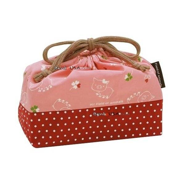 japanese bento lunch box set pink pig. Black Bedroom Furniture Sets. Home Design Ideas