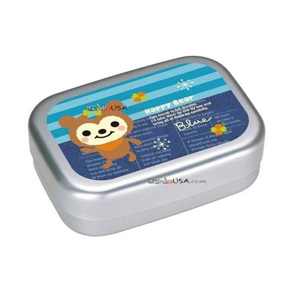 aluminum kids bento lunch box fuzzy bear all things for sale. Black Bedroom Furniture Sets. Home Design Ideas