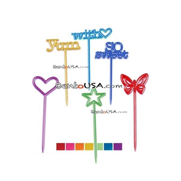 Food Decorating Pick Long Pix Stix Assorted