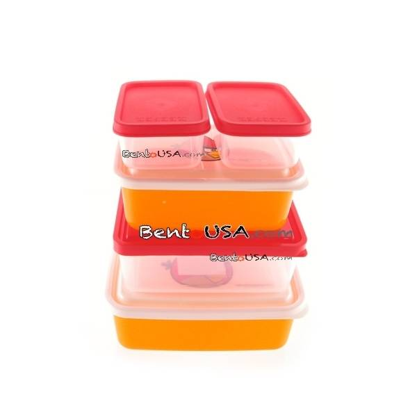 bento lunch box angry birds 5 containers set all things for sale. Black Bedroom Furniture Sets. Home Design Ideas