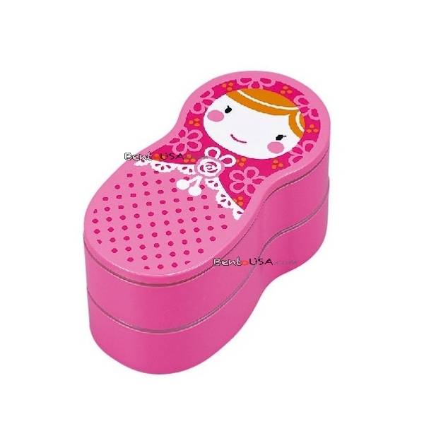 japanese bento box lunch box matryoshka doll pink. Black Bedroom Furniture Sets. Home Design Ideas